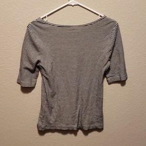 LOFT Tops - Loft | basic scoop neck striped tshirt